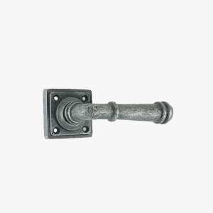 PEWTER RIBBED LEVER HANDLE