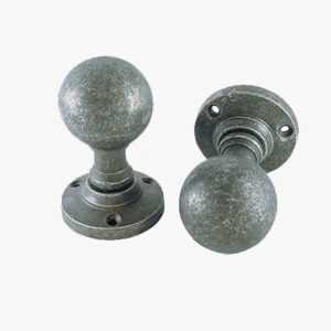 PEWTER BALL MORTICE KNOB